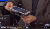 Francois Charron and Gino Chouinard review Tablets and SpiderpodiumTablet stand on Quebec TV