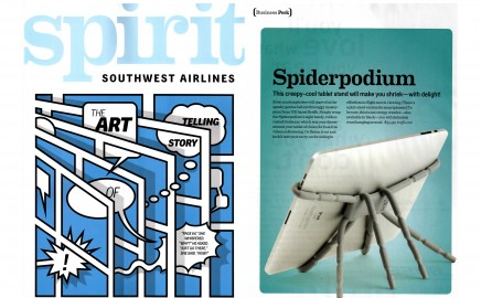 Southwest Airlines Spirit Magazine Features SpiderpodiumTablet
