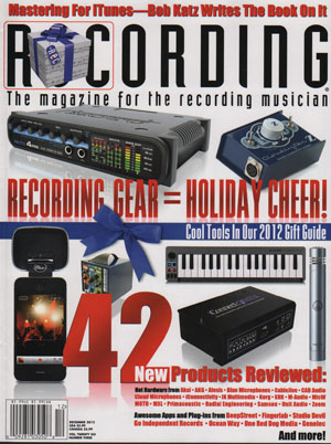 December 2012_Recording Magazine_Tempo_and_Studio_I_Mike Metlay_Icon