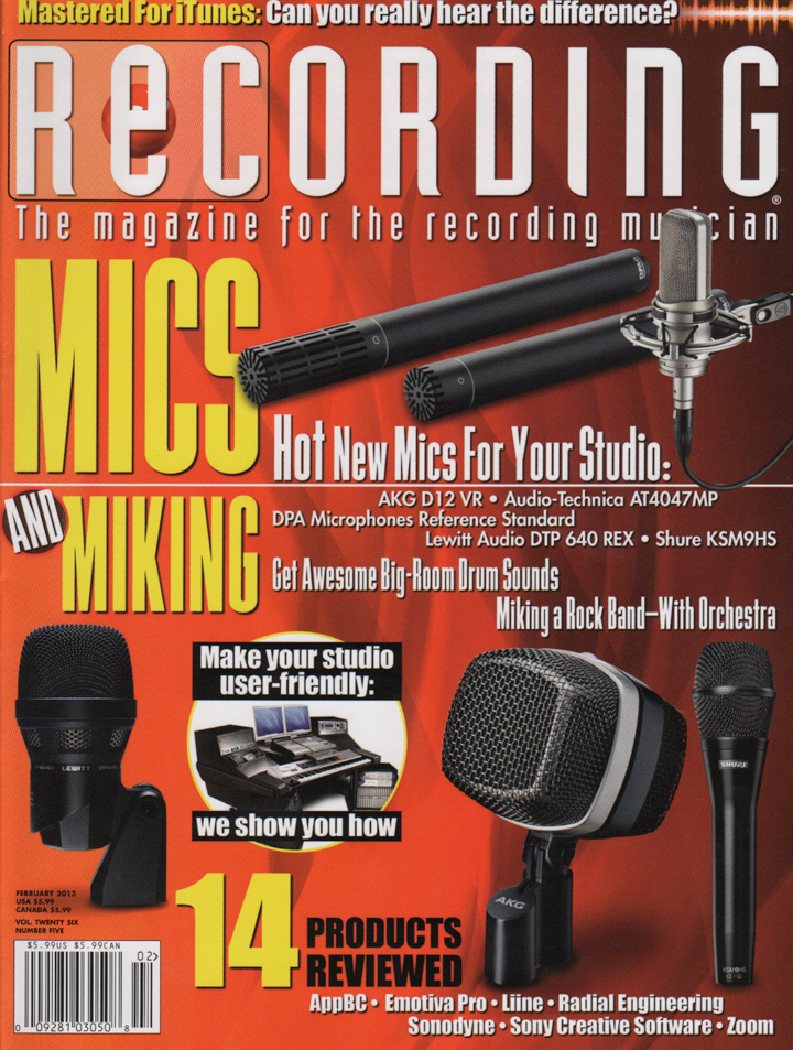 February-2013_Recording-Magazine_800-Series_Fast-Forward_Mike-Metlay_cvr_LR