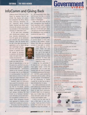 July 2014 GovernmentVideoMag_mention_BobKovacs_Intro